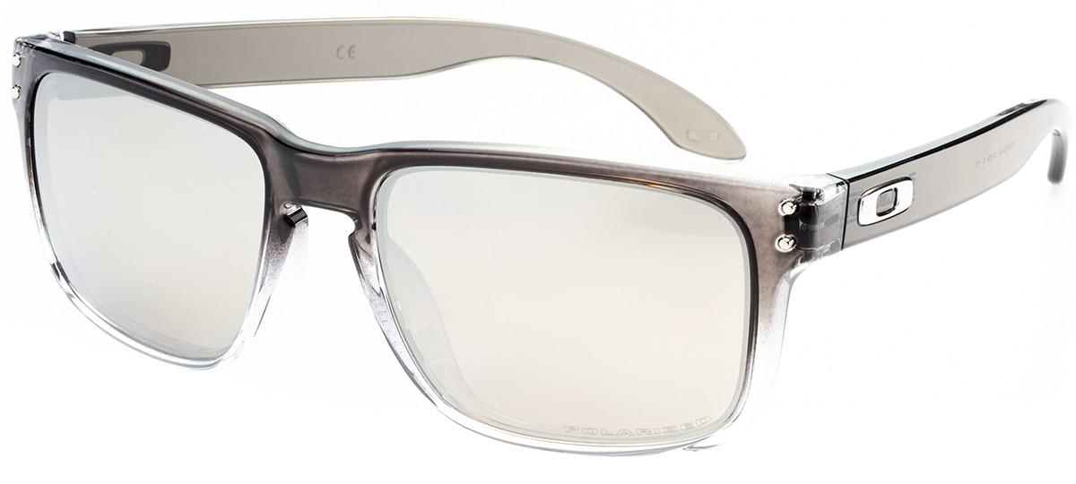 6960bac0776f7 cinza   transparente cinza   transparente · preto preto · Óculos de Sol  Oakley Holbrook 9102-A9 ...