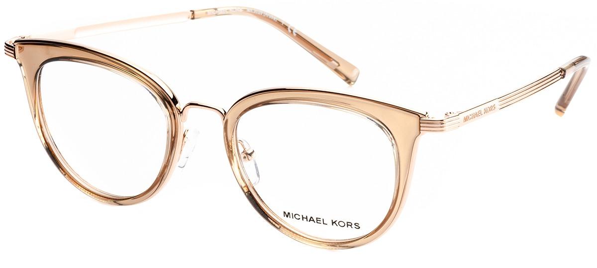 16de7a6b5 Imagem Óculos Receituário Michael Kors Aruba 3026 3050. Cor Da Armação.  marrom claro / rosé