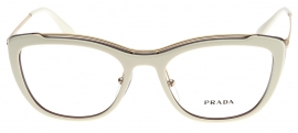 Óculos Receituário Prada Full Metal Temple Evolution 04VV YNC-1O1 ba4c4207d6