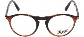 Óculos Receituário Persol 649 Evolution 3201-V 108 Caffè
