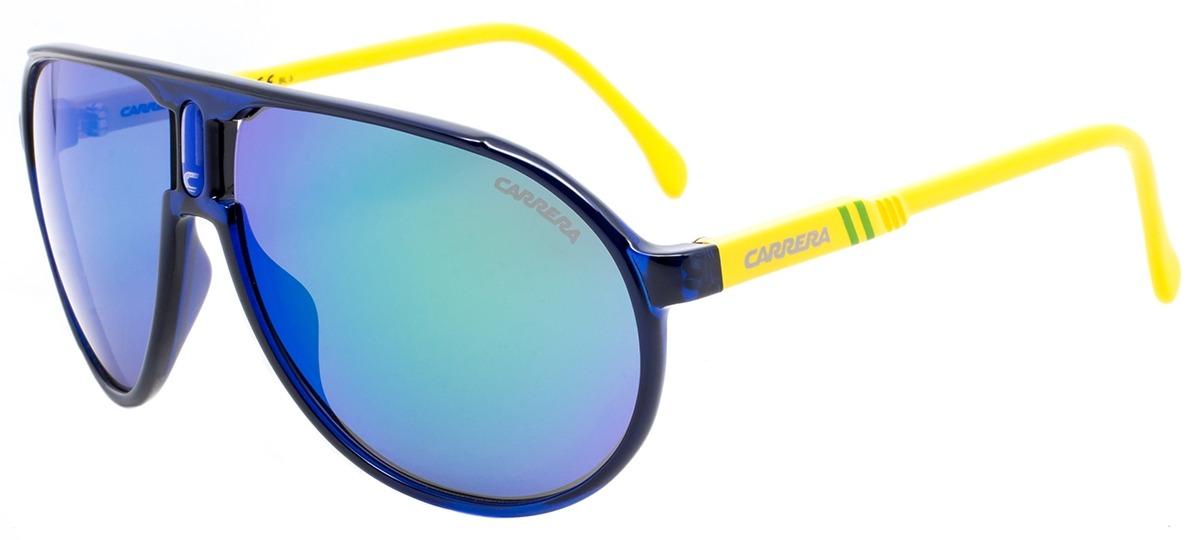 387b0c22b1e42 azul   amarelo   verde azul   amarelo   verde. Óculos de Sol Carrera  Champion ...