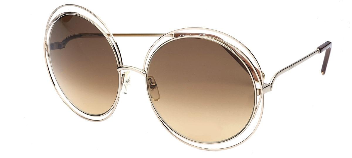 b5928607afd72 prata prata · Óculos de Sol Chloé Carlina 114S ...