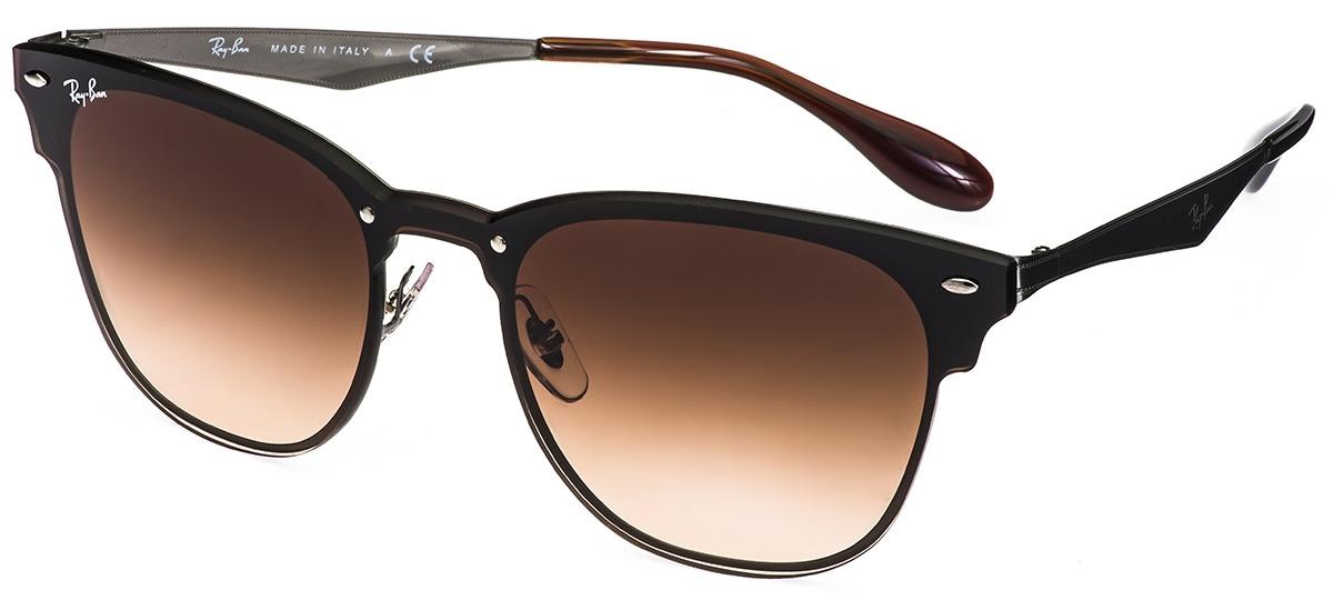 cdc6adae9f6f9 cinza cinza · preto preto · Óculos de Sol Ray Ban Blaze Clubmaster 3576-N  153 11 ...