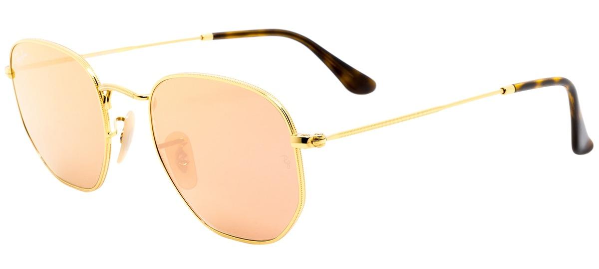 dourado dourado. dourado   espelhado dourado   espelhado. preto preto. Óculos  de Sol Ray Ban Hexagonal 3548-N 001 Z2 ... ebd918a4a9