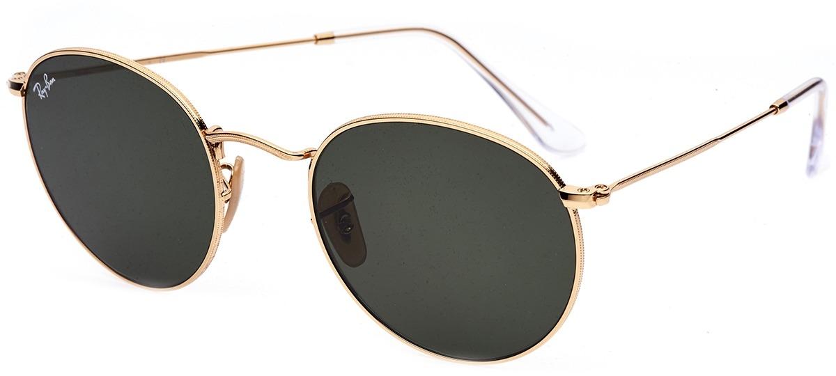 70a71703f Imagem Óculos de Sol Ray Ban Round Metal 3447-N 001. Cor Da Armação. dourado