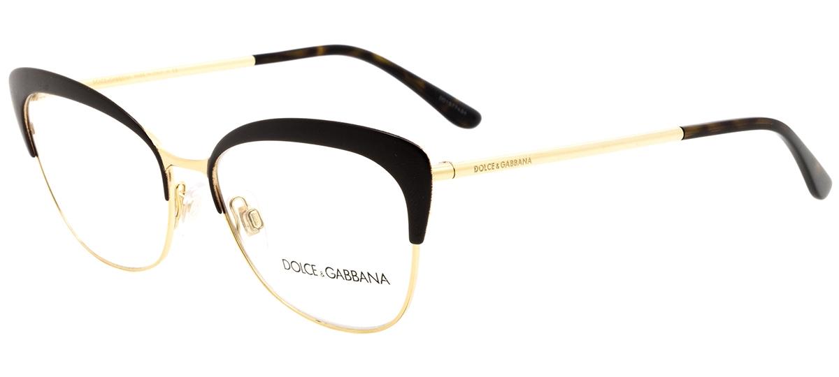 9974ec4a92649 marrom   dourado marrom   dourado. Óculos Receituário Dolce   Gabbana  Ortensia 1298 1315 ...