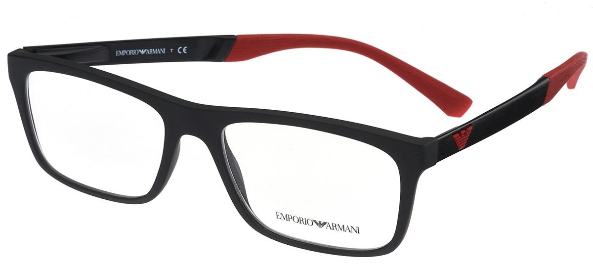 520b5d7f344dd preto   vermelho preto   vermelho · vermelho   prata vermelho   prata · Óculos  Receituário Emporio Armani 3101 ...