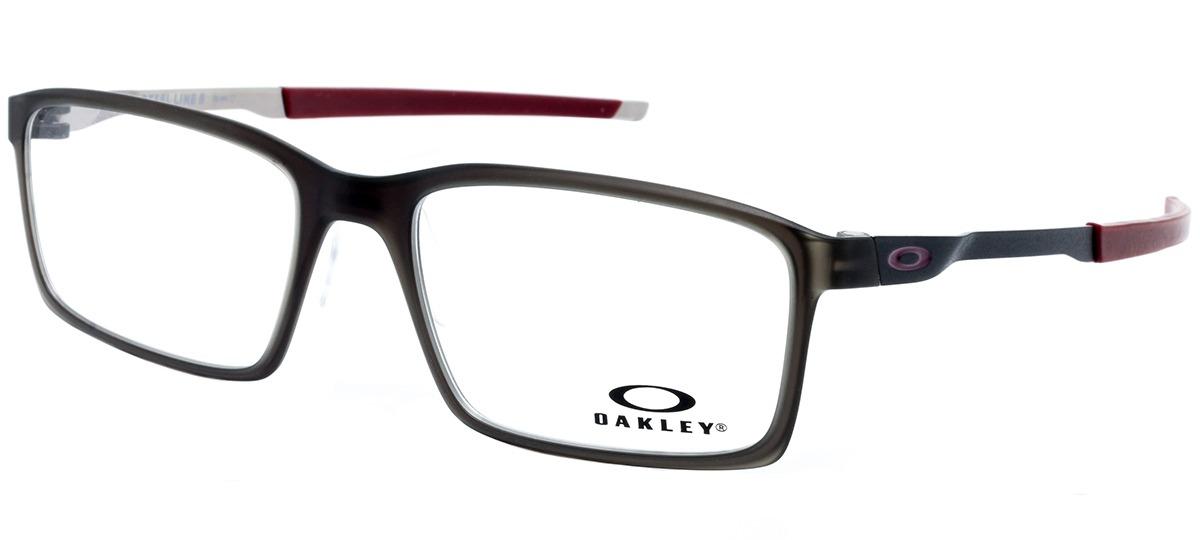 8f13aef557e11 cinza   vinho cinza   vinho. Óculos Receituário Oakley Steel Line S ...