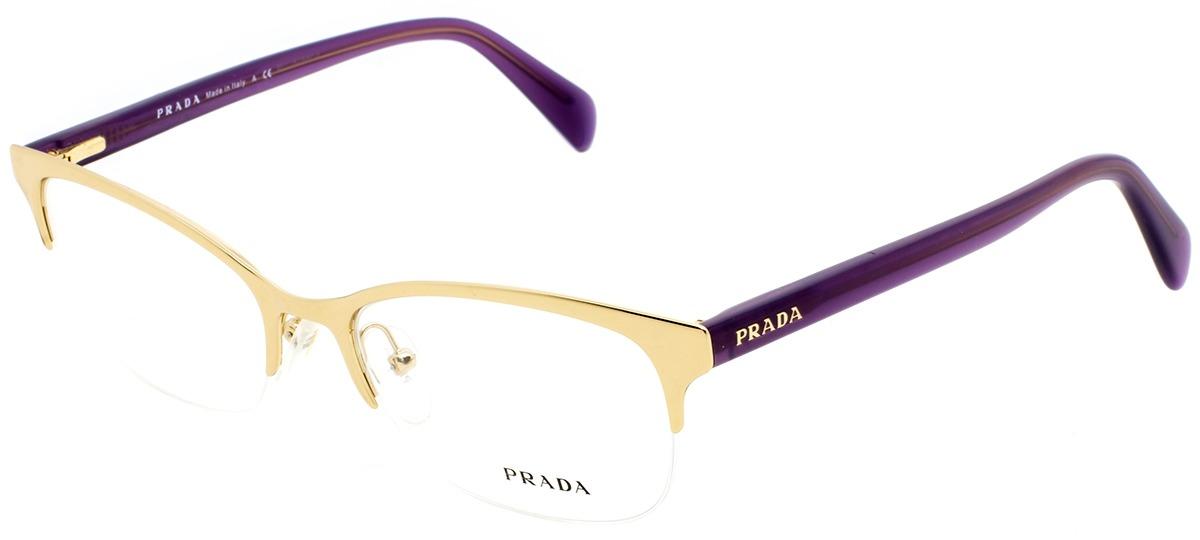7d0fe63acf521 dourado   lilás dourado   lilás. Óculos Receituário Prada ...