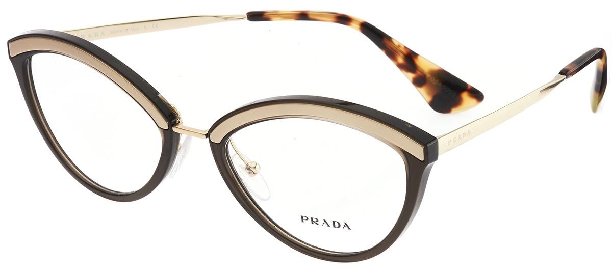 f5234961a7adc marrom   dourado marrom   dourado · Óculos Receituário Prada ...