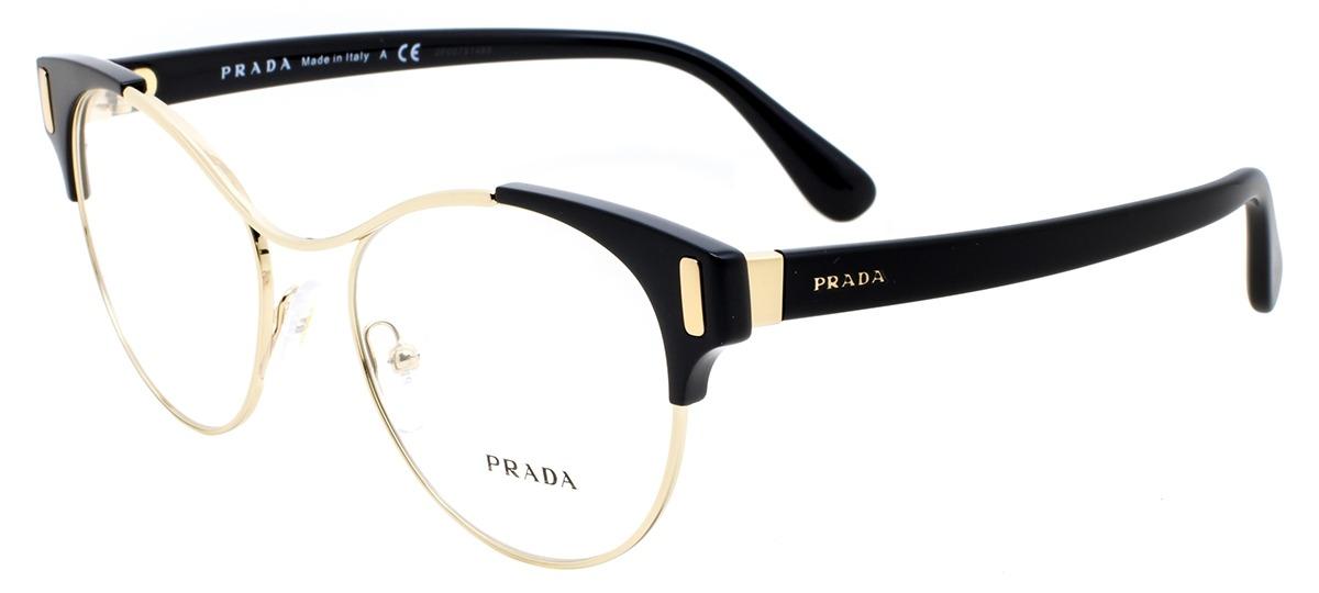 b2a34c0c866f7 Óculos Receituário Prada Mod Evolution 61tv 1ab-1o1   Ótica Mori