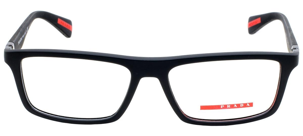 ac2fe68e7481b Óculos Receituário Prada Linea Rossa 02FV DG0-1O1   Ótica Mori